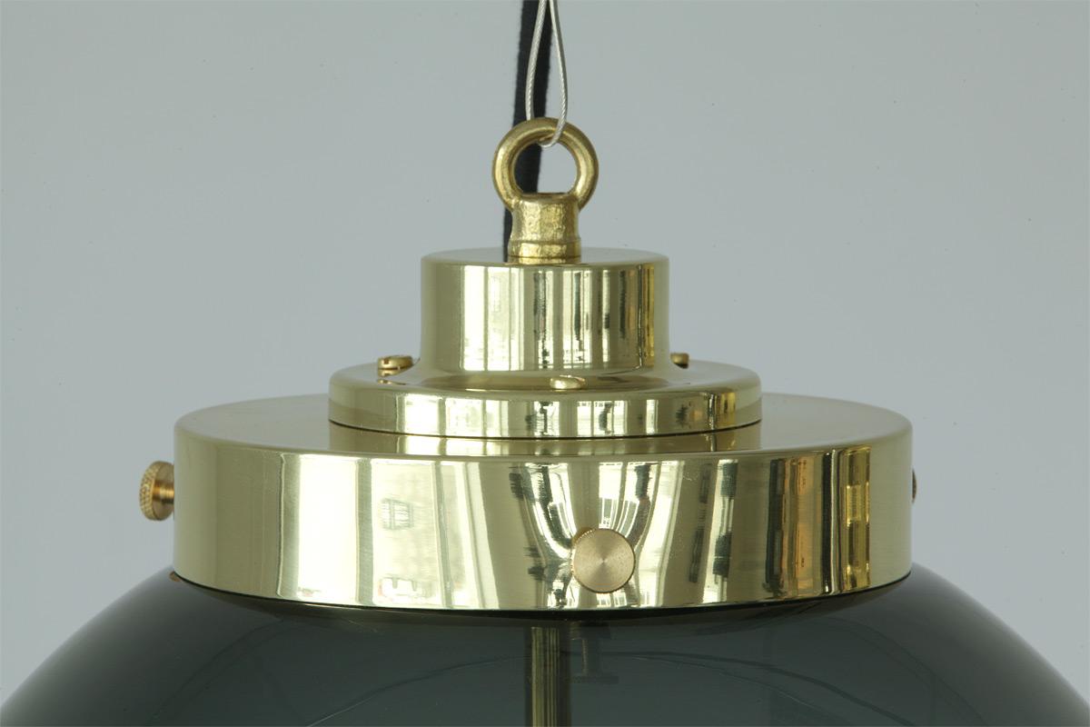 Plafonniere Messing Glas : Kugel hängeleuchten mit rauchglas in drei größen casa lumi