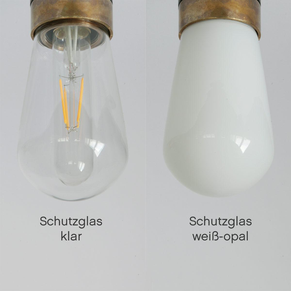Doppel-Badezimmer-Lampe mit IP15-Glaskolben, Wand oder Decke