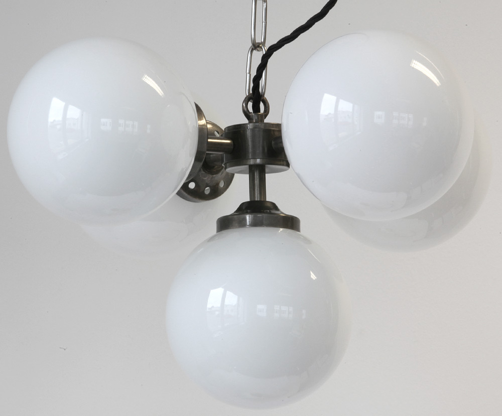 Hanging Lamp With 5 Small Glass Balls