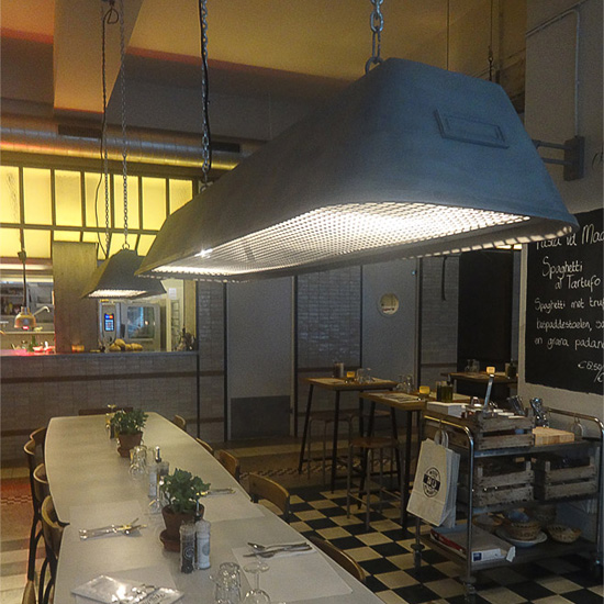 Lange Industrie Hängeleuchte Bis Für Tische Und Theken Casa Lumi