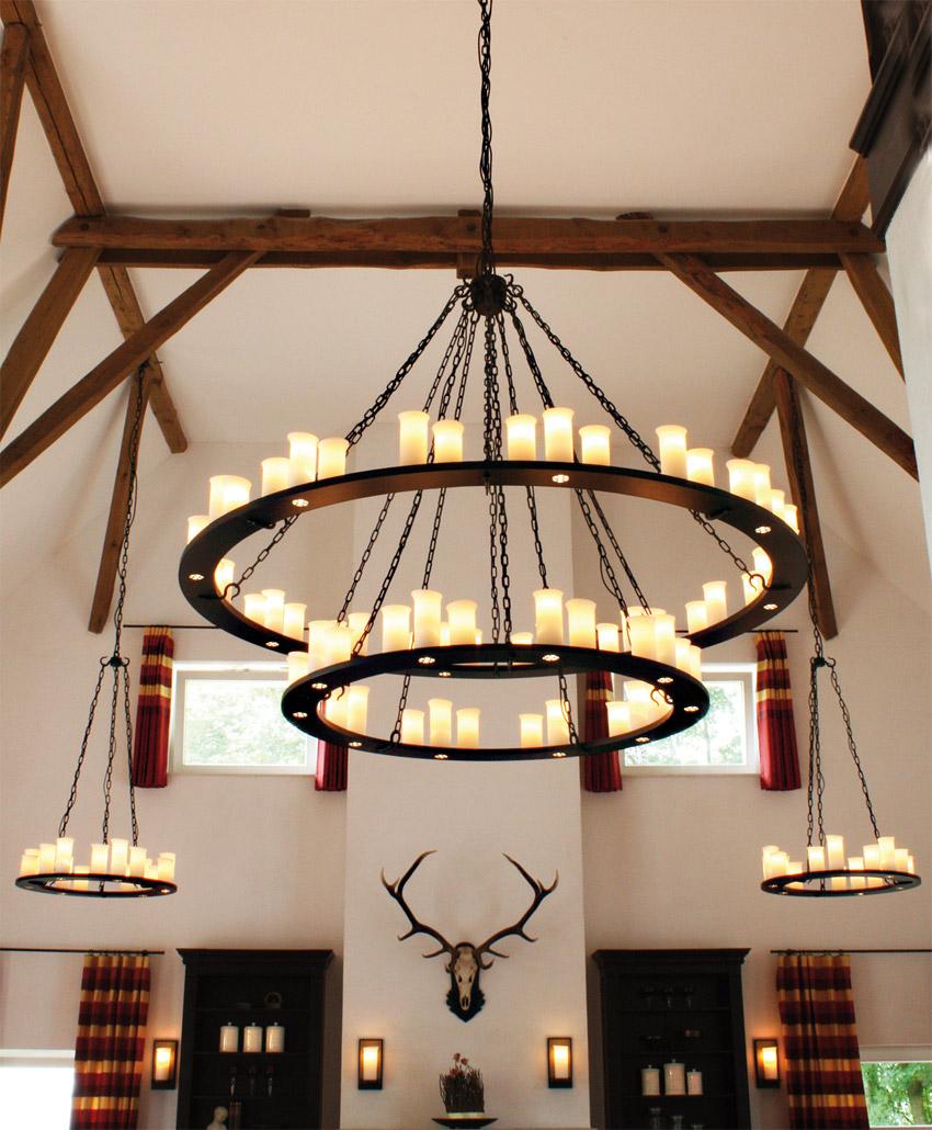Schmiedeeisen-Leuchter mit Downlights HL 2431 - Casa Lumi