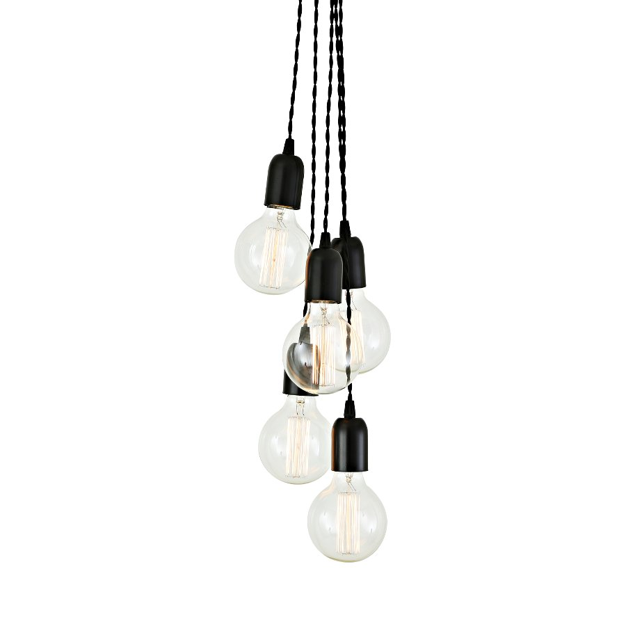 gruppe aus f nf fassungslampen casa lumi. Black Bedroom Furniture Sets. Home Design Ideas
