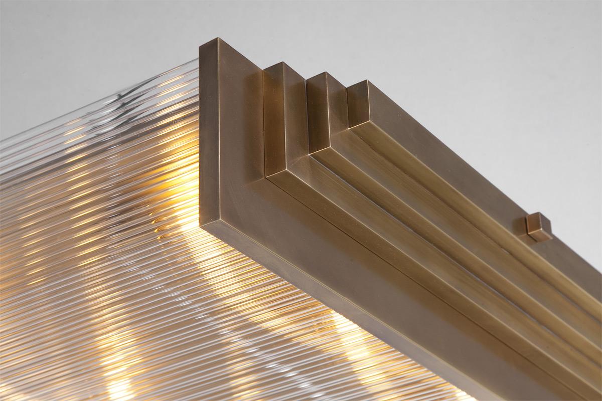 Moderne Lampen 94 : Große art déco deckenleuchte mit kristall stäben 94 x 80 cm casa lumi
