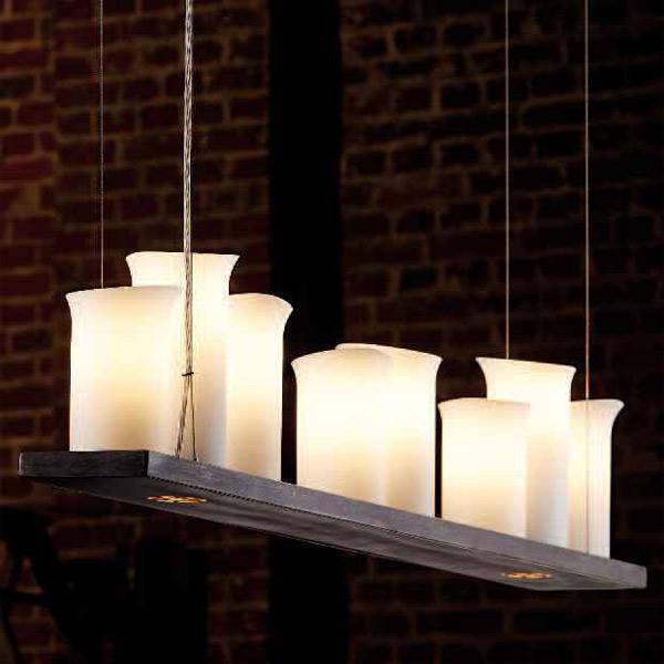 esstischlampe mit kerzen