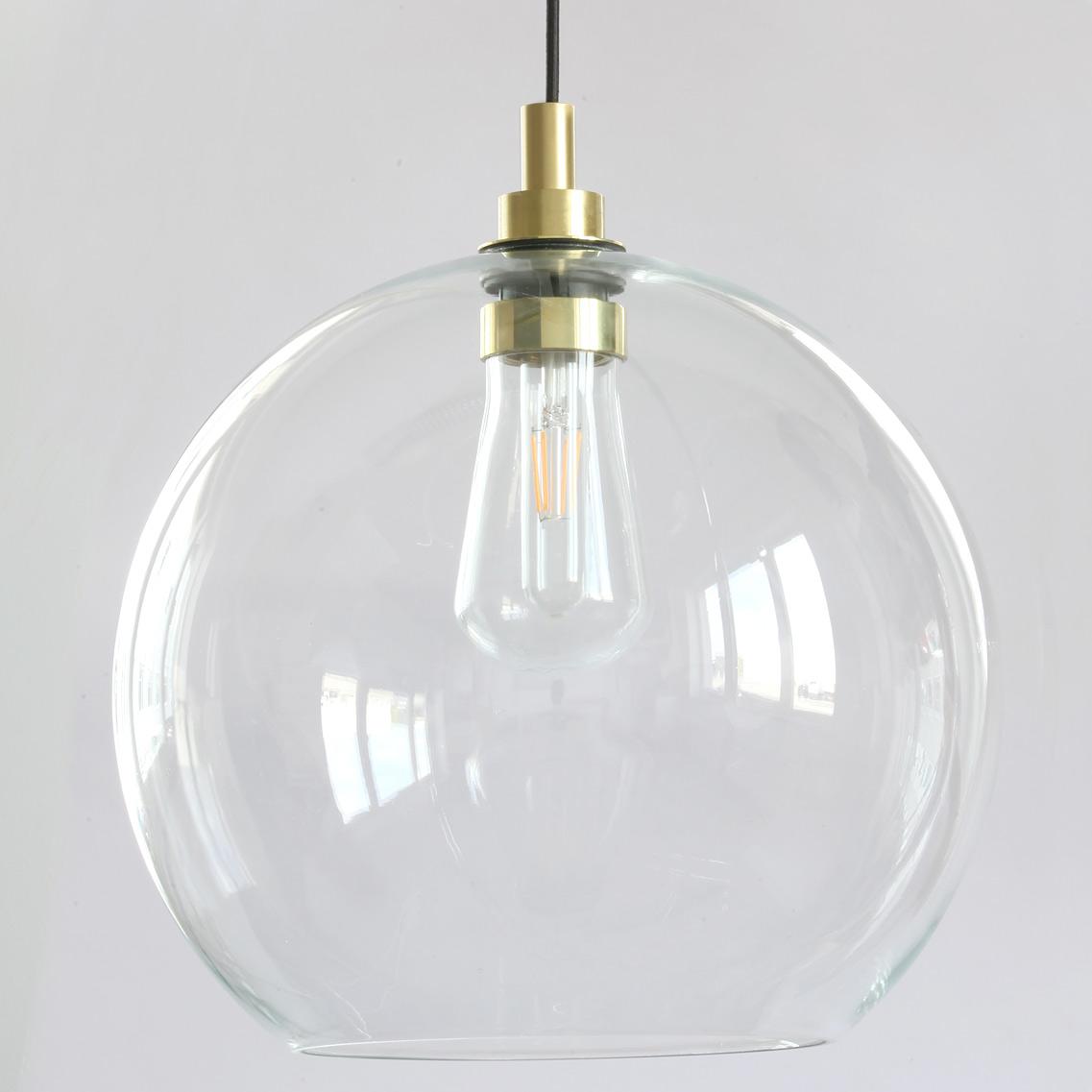 Große Hängeleuchte mit offenem Kugel Glasschirm, IP20   Casa Lumi