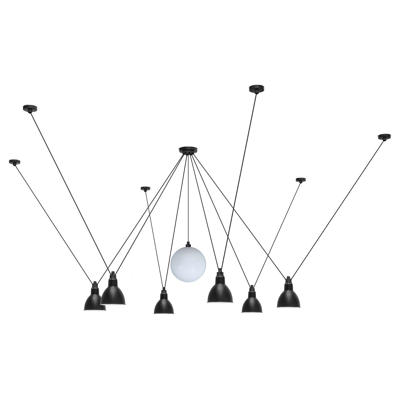 h ngeleuchten gruppe mit 7 variablen schirmen les acrobates n 327 casa lumi. Black Bedroom Furniture Sets. Home Design Ideas