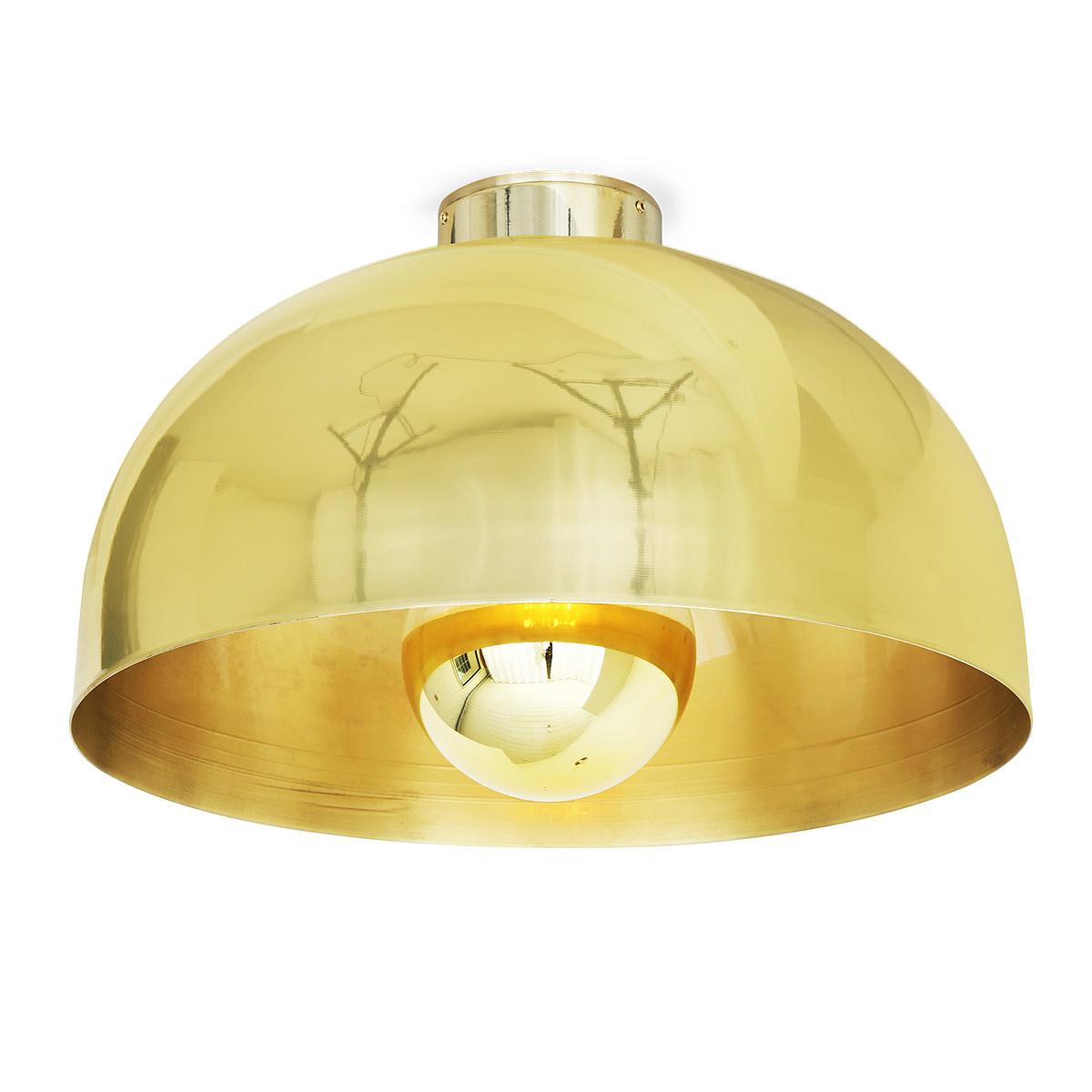 Kuppel deckenleuchte aus messing auch gl nzend 20 30 cm for Deckenleuchte messing