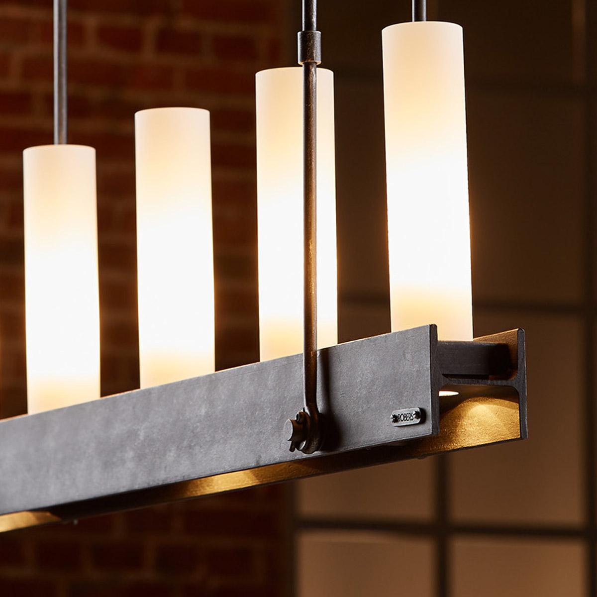 Robers Leuchten iron hanging light with downward spotlights casa lumi