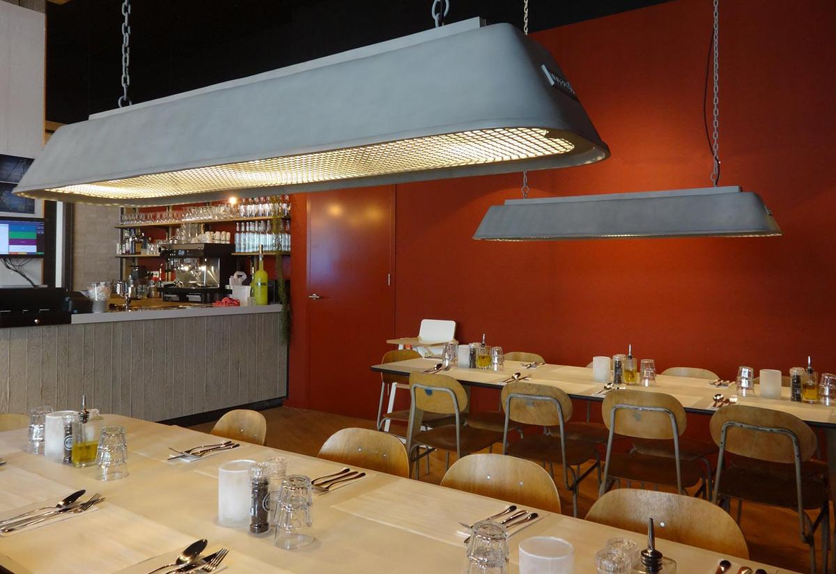 Moderne Lampen 13 : Lange industrie hängeleuchte bis für tische und theken casa lumi