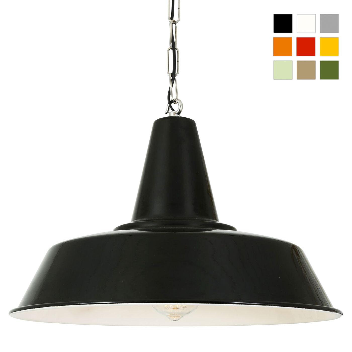 schwarze industriestil pendelleuchte 40 cm mit kette casa lumi. Black Bedroom Furniture Sets. Home Design Ideas