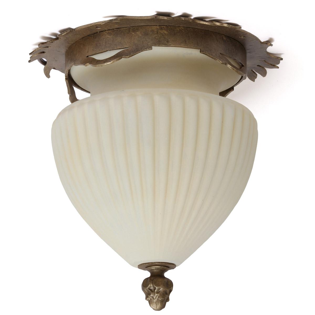 Jugendstil Deckenlampe de 2332 jugendstil-deckenleuchte aus schmiedeeisen Ø 35 cm - casa lumi
