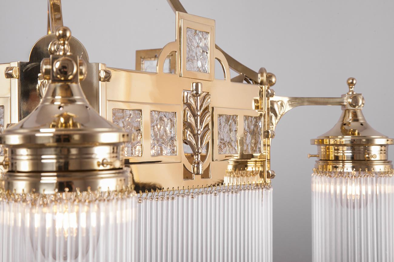 Kronleuchter Jugendstil ~ Wiener jugendstil kristallglas kronleuchter i casa lumi