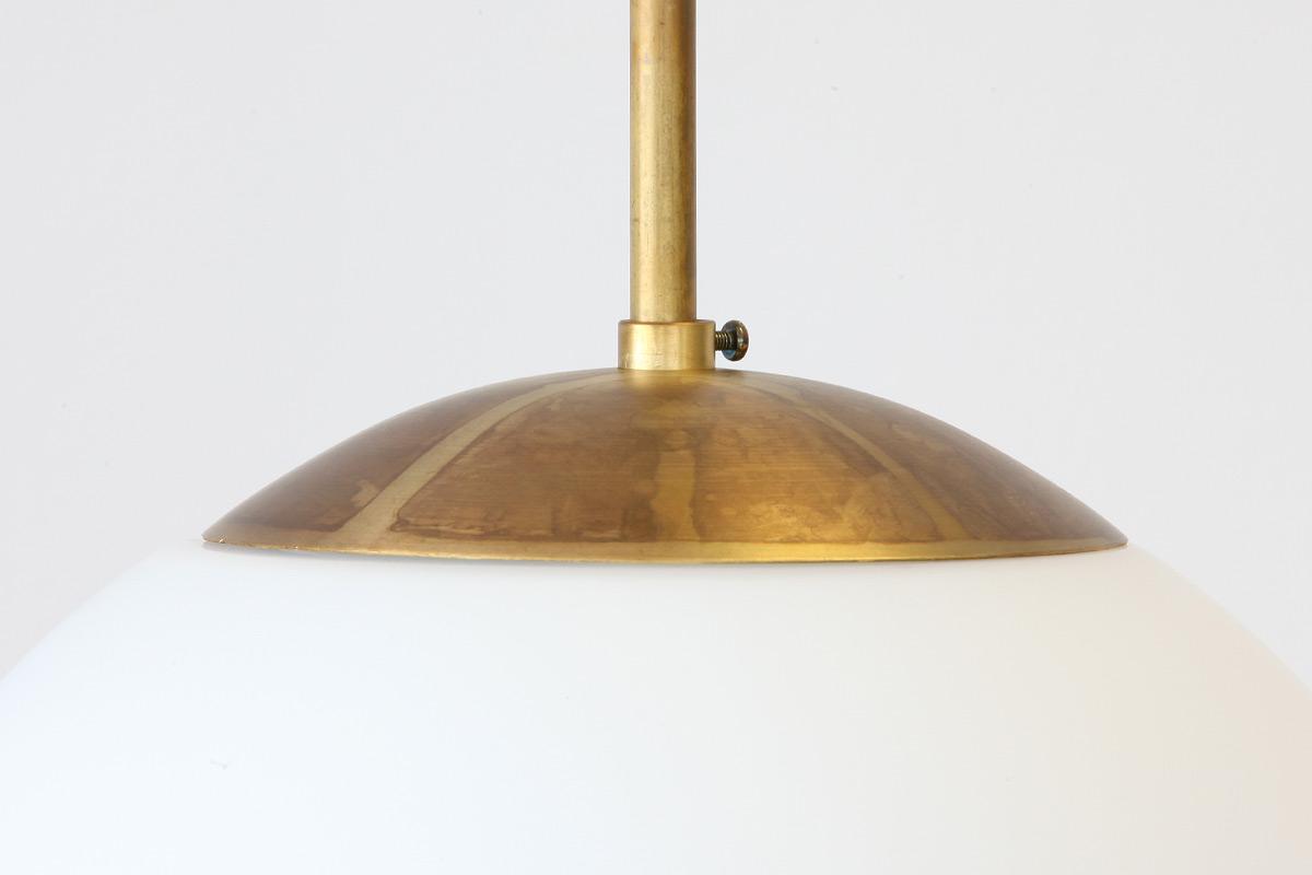 Wunderbar Messing Deckenlampe Dekoration Von Messing-deckenleuchte Globo Mit Matt-weißer Glaskugel Ø 20-35