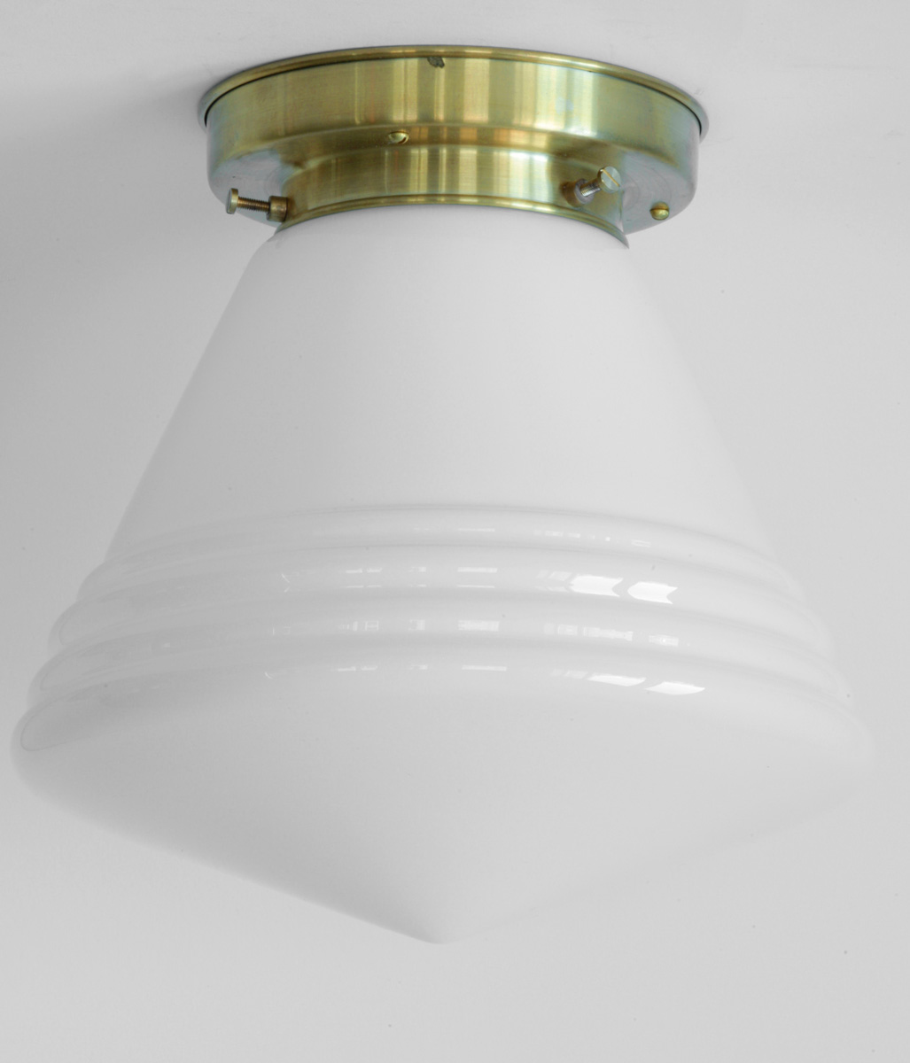 kleine deckenleuchte mit spitzglas und gestufter halterung 20 cm casa lumi. Black Bedroom Furniture Sets. Home Design Ideas