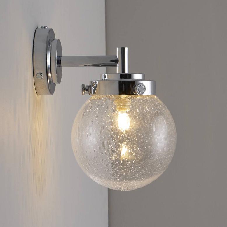 kleine glaskugel wandleuchte mit strukturglas 12 cm casa lumi. Black Bedroom Furniture Sets. Home Design Ideas