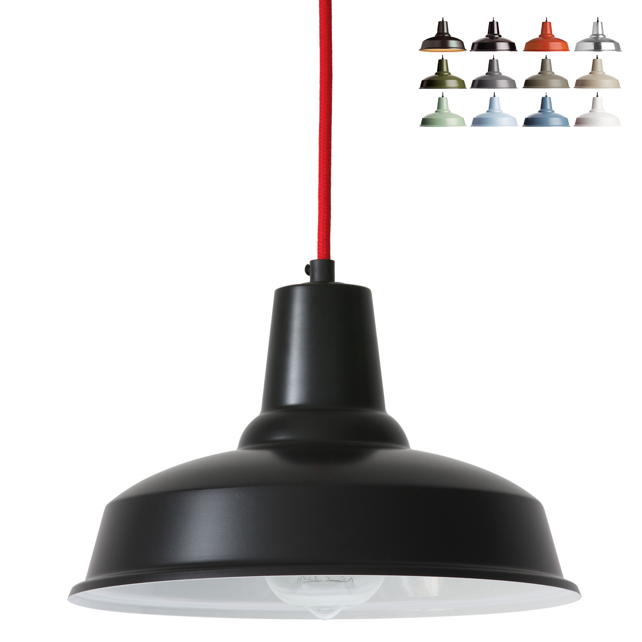 kleine industrial pendelleuchte aus d nemark piccolo 12 farben casa lumi. Black Bedroom Furniture Sets. Home Design Ideas
