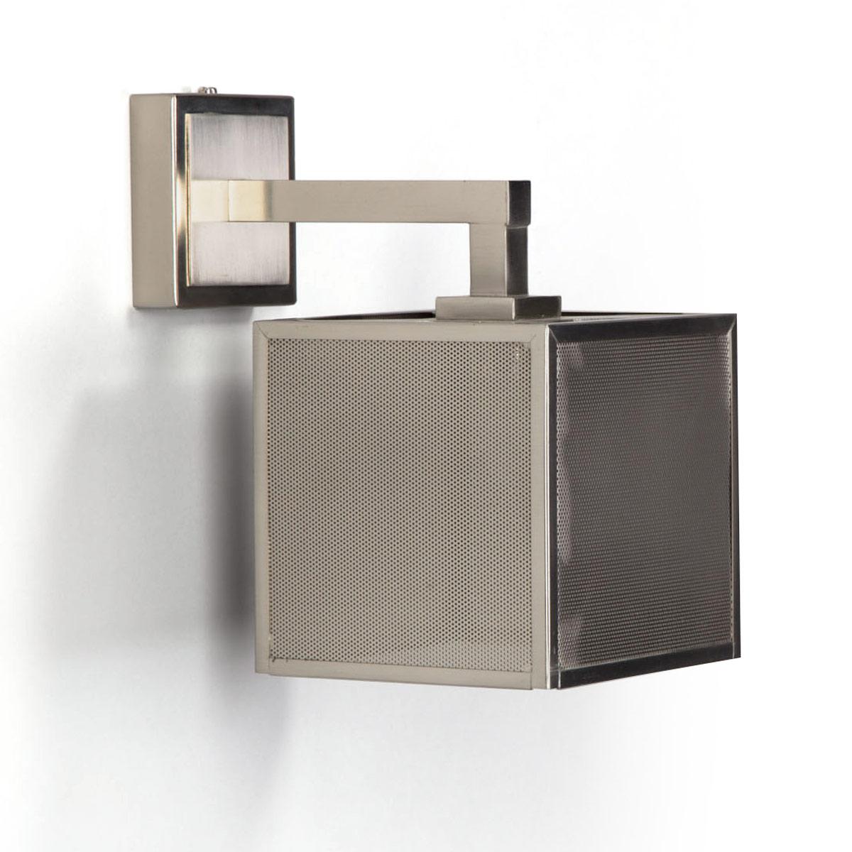 kleine wandleuchte mit fein gelochtem w rfel schirm carre casa lumi. Black Bedroom Furniture Sets. Home Design Ideas