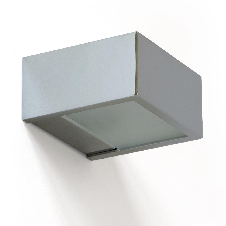 Puristische Badezimmer-Wandleuchte, Chrom, Up-Down-Licht ...