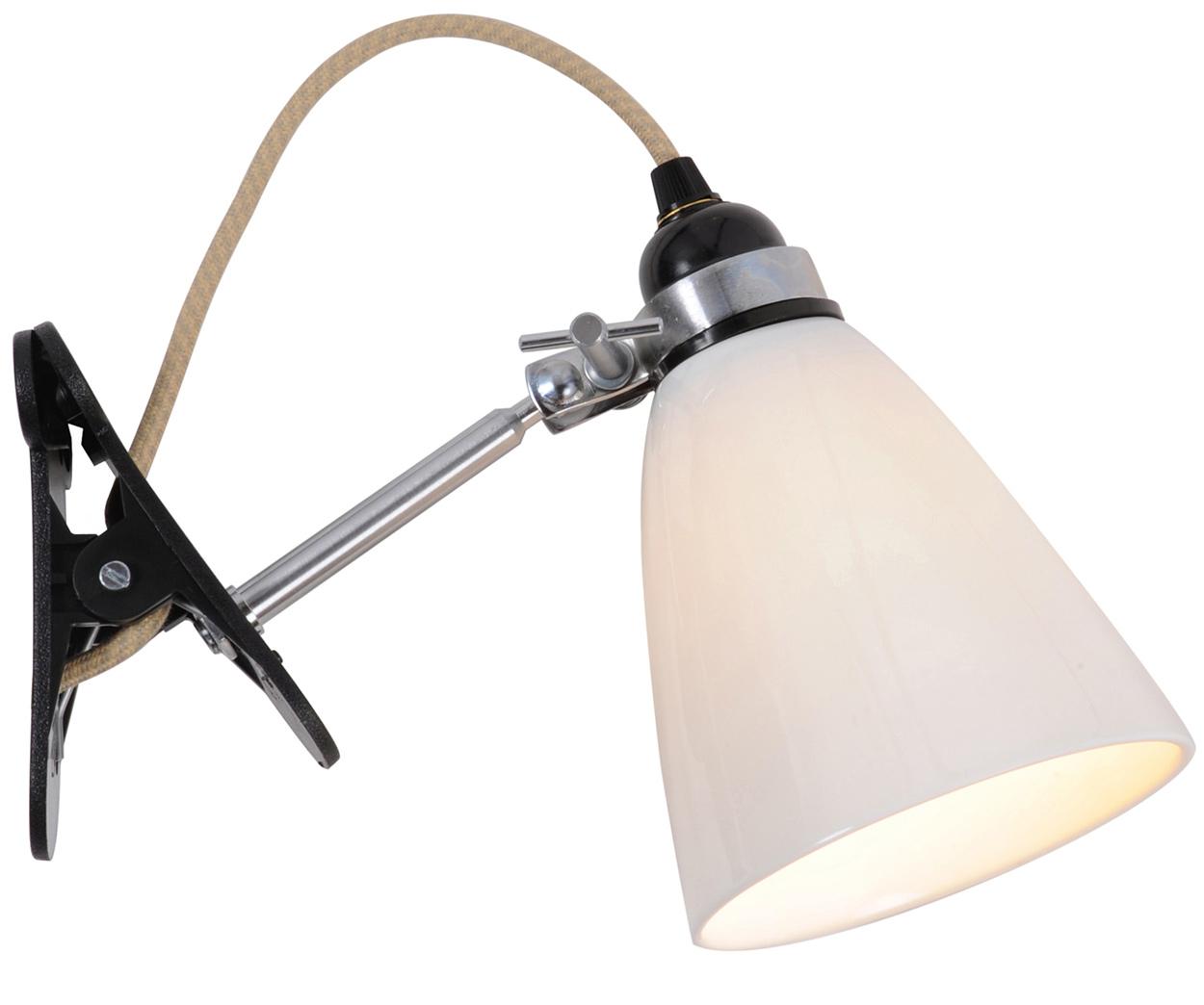 verstellbare klemm leuchte mit porzellanschirm casa lumi. Black Bedroom Furniture Sets. Home Design Ideas