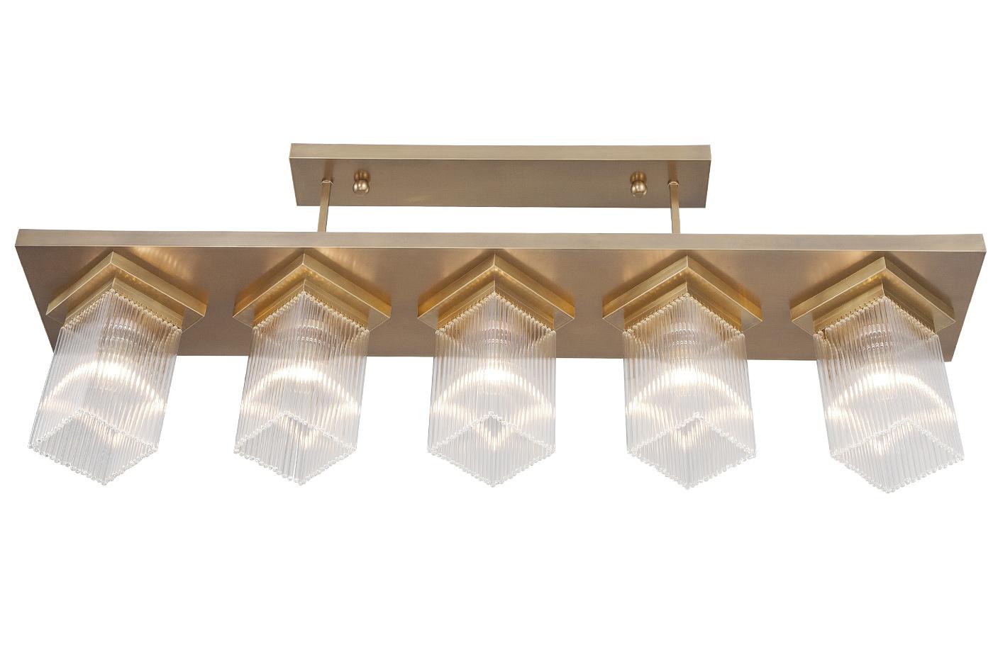 Plafoniere Kristall Antik : Lange art déco hängeleuchte mit kristall stäben casa lumi