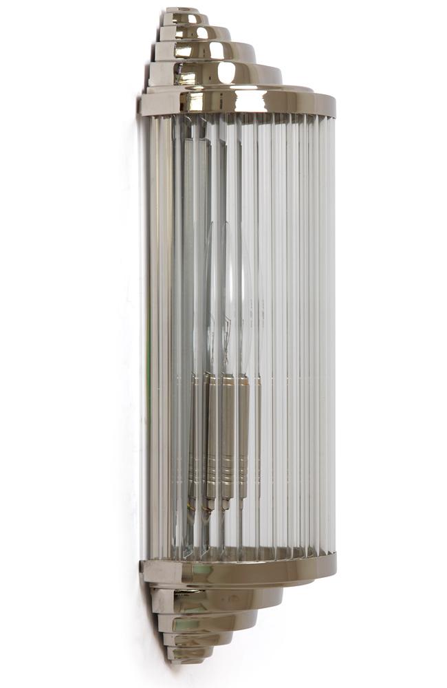 Kleine Art Déco-Kristallglas-Wandleuchte PETIO I/1 - Casa Lumi