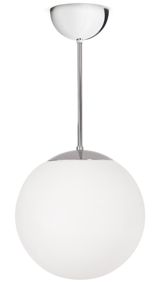 verchromte kugel deckenleuchte globo mit wei em glas. Black Bedroom Furniture Sets. Home Design Ideas