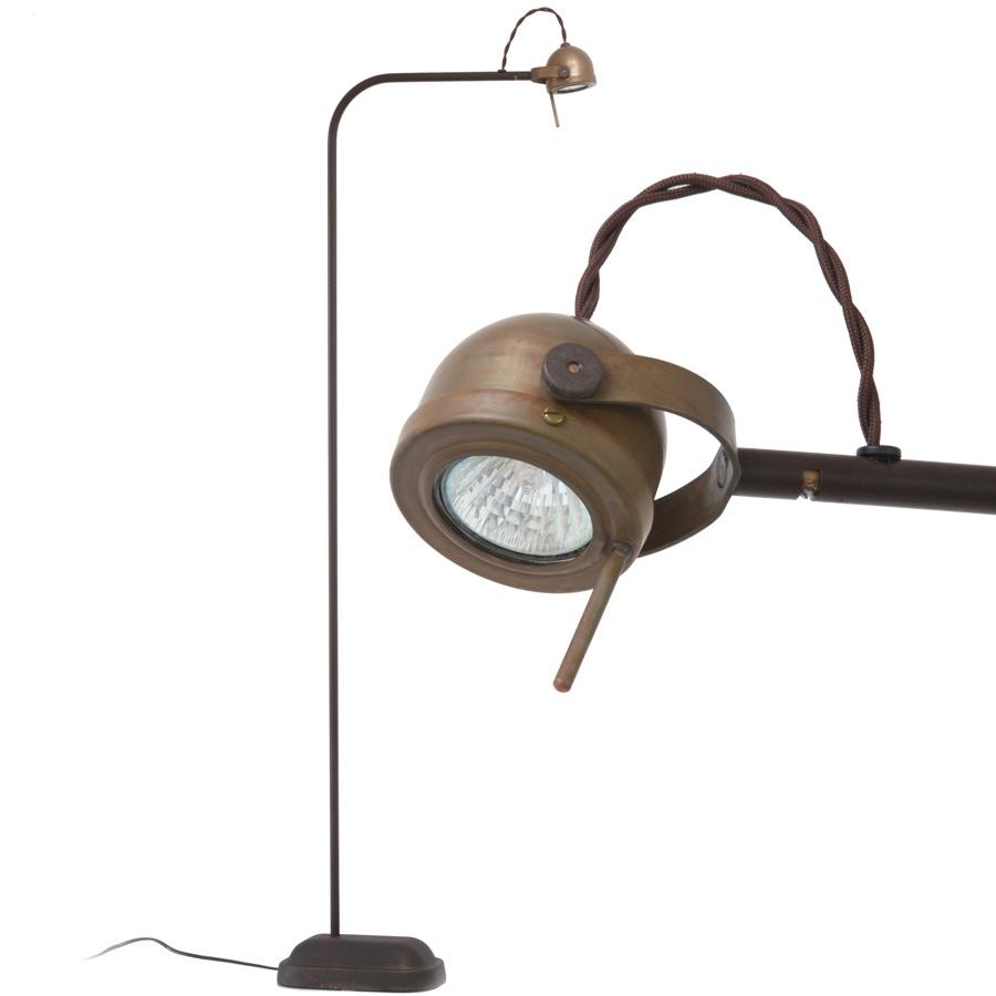 SPEZIA Kupfer-Stehleuchte mit dimmbarem LED-Strahler - Casa Lumi