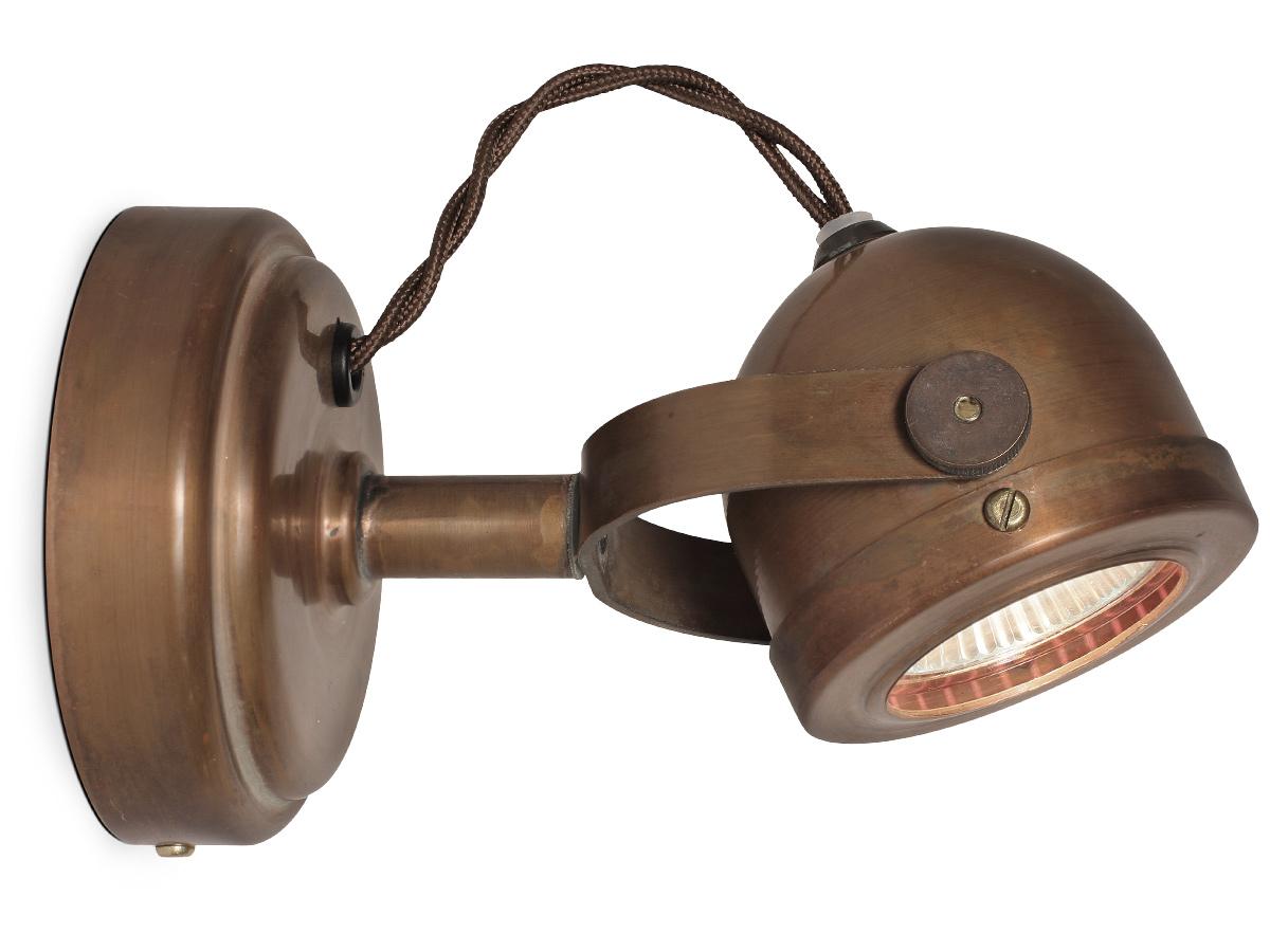 Kleiner nostalgie wandstrahler deckenspot aus kupfer for Lampen nostalgie
