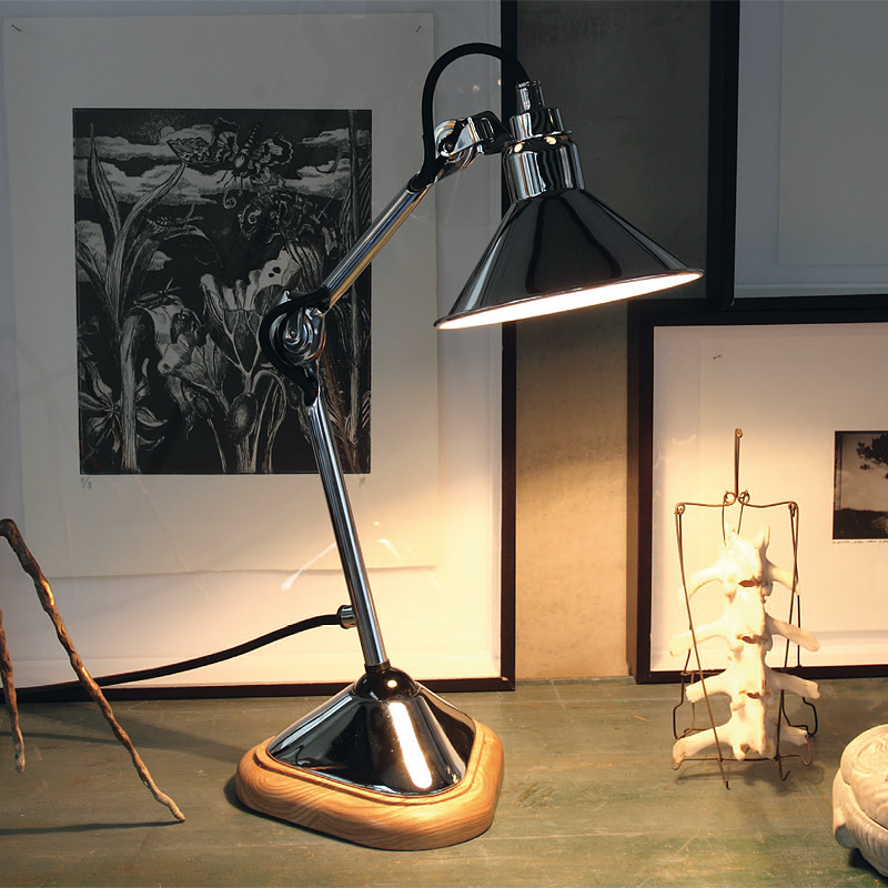 Very Small Table Lamp With Wooden Base Gras N 207 Casa Lumi