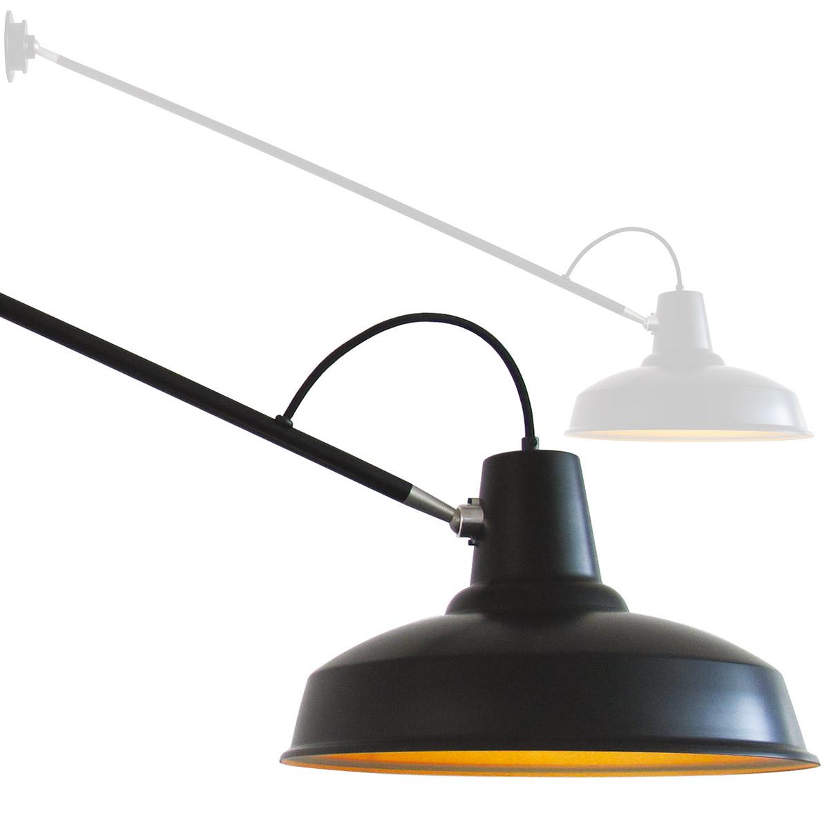 Kran-Wandleuchte mit 137 cm Ausleger PELICAN LONG - Casa Lumi