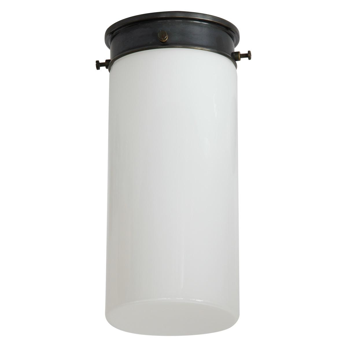Lange bauhaus tuben deckenleuchte mit opalglas 11 16 cm for Lange deckenleuchte