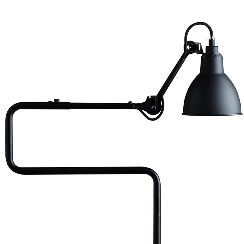 Stehlampe gezeichnet  Funktionale Stehleuchte mit Doppel-Schwenkarm N° 411 - Casa Lumi