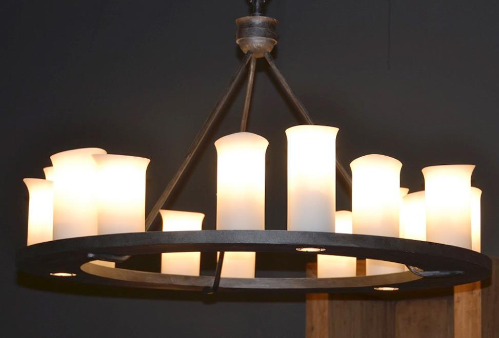 Kronleuchter Eisen Für Kerzen ~ Kronleuchter aus schwarzem eisen für kerzen in baden württemberg