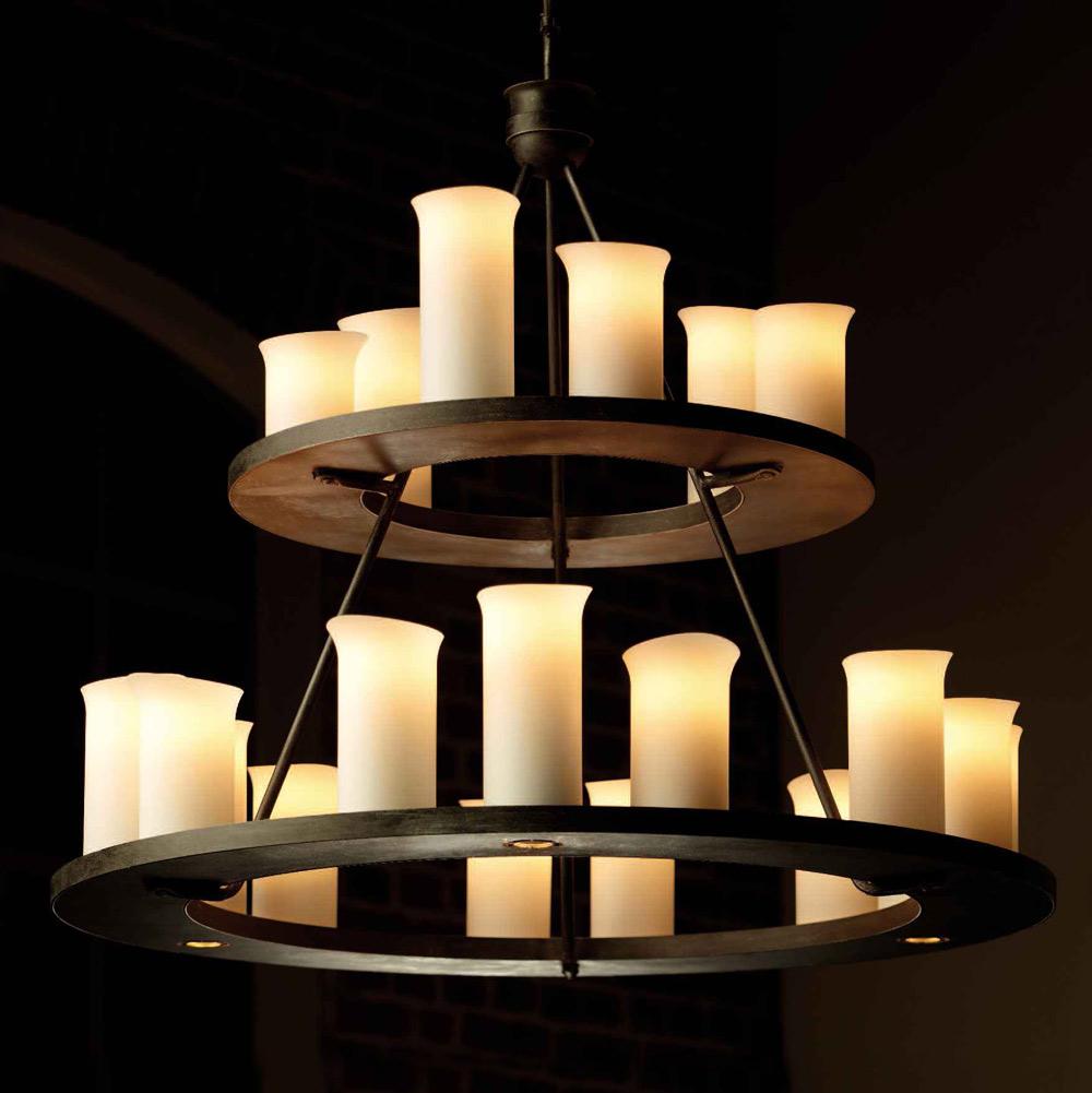 gro er schmiedeeisen h ngeleuchter mit downlights casa lumi. Black Bedroom Furniture Sets. Home Design Ideas