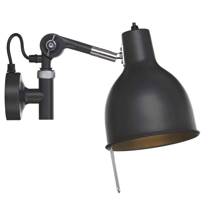 Wandlampe Mit Steckerzuleitung ~ Verstellbare werkstatt wandlampe aus schweden rj casa