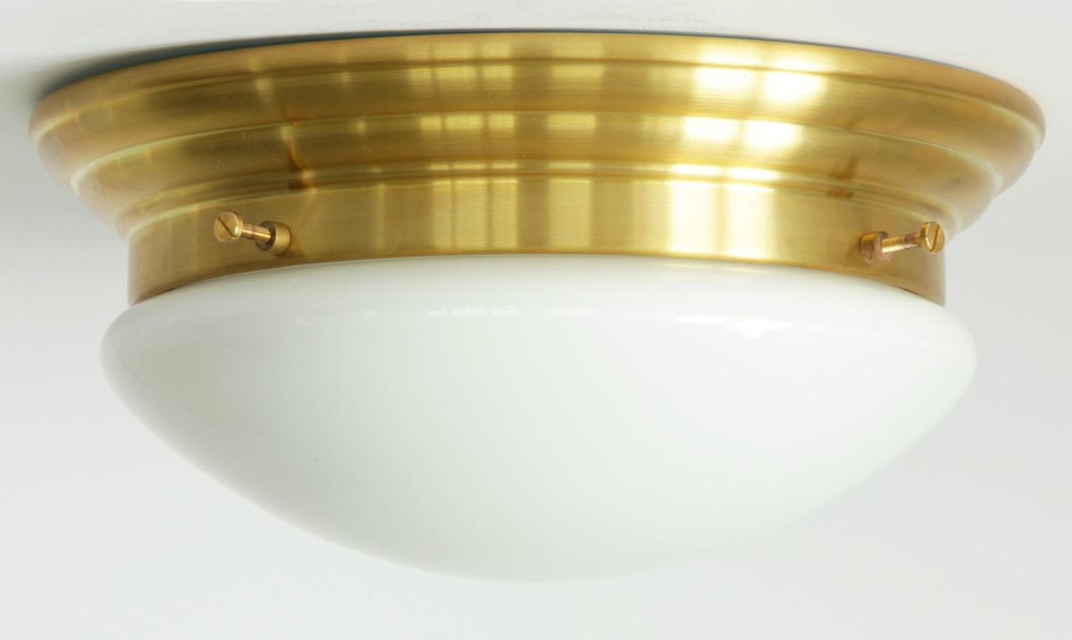 Plafoniere Led Moderne Design : Messing plafoniere mit flachem opalglas Ø cm casa lumi