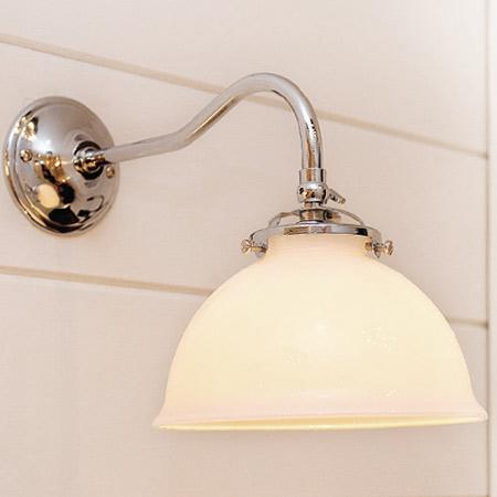 rustikale wandlampe mit glasschirm grampa - casa lumi