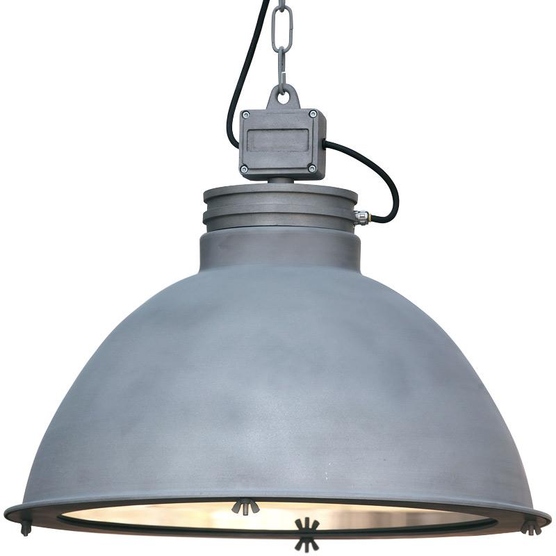 ORE Grou00dfe Industrie-Loft-Leuchte mit Glasscheibe von Breda Leuchten ...