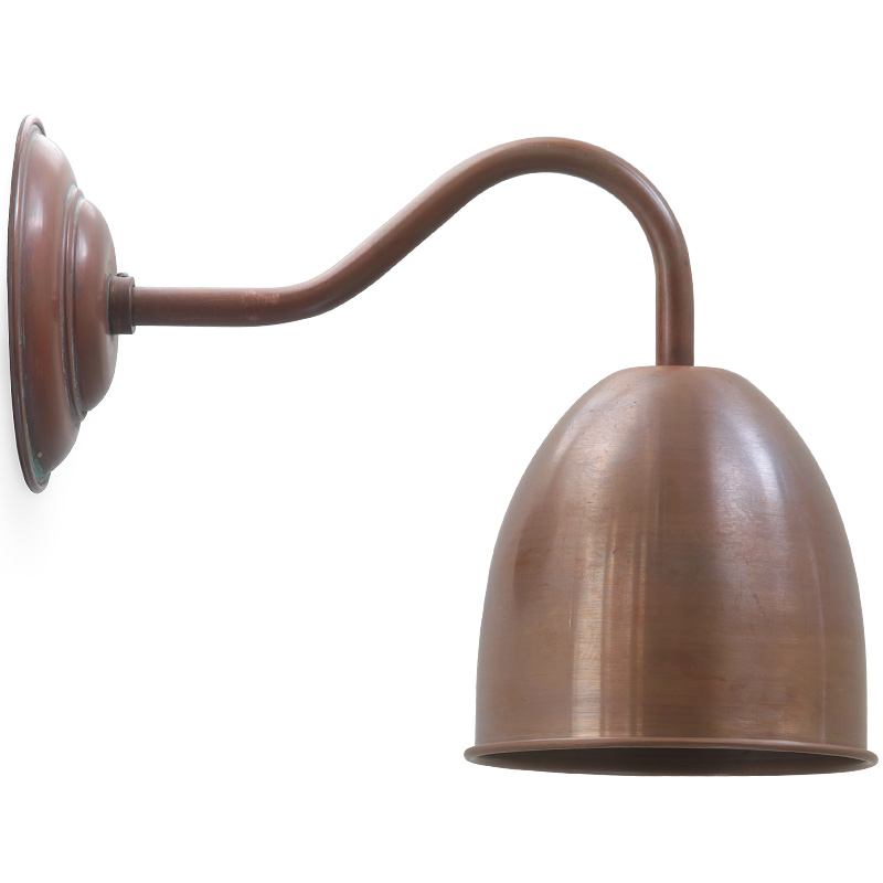 pygoza nostalgische kupfer wandlampe an bogenarm casa lumi. Black Bedroom Furniture Sets. Home Design Ideas