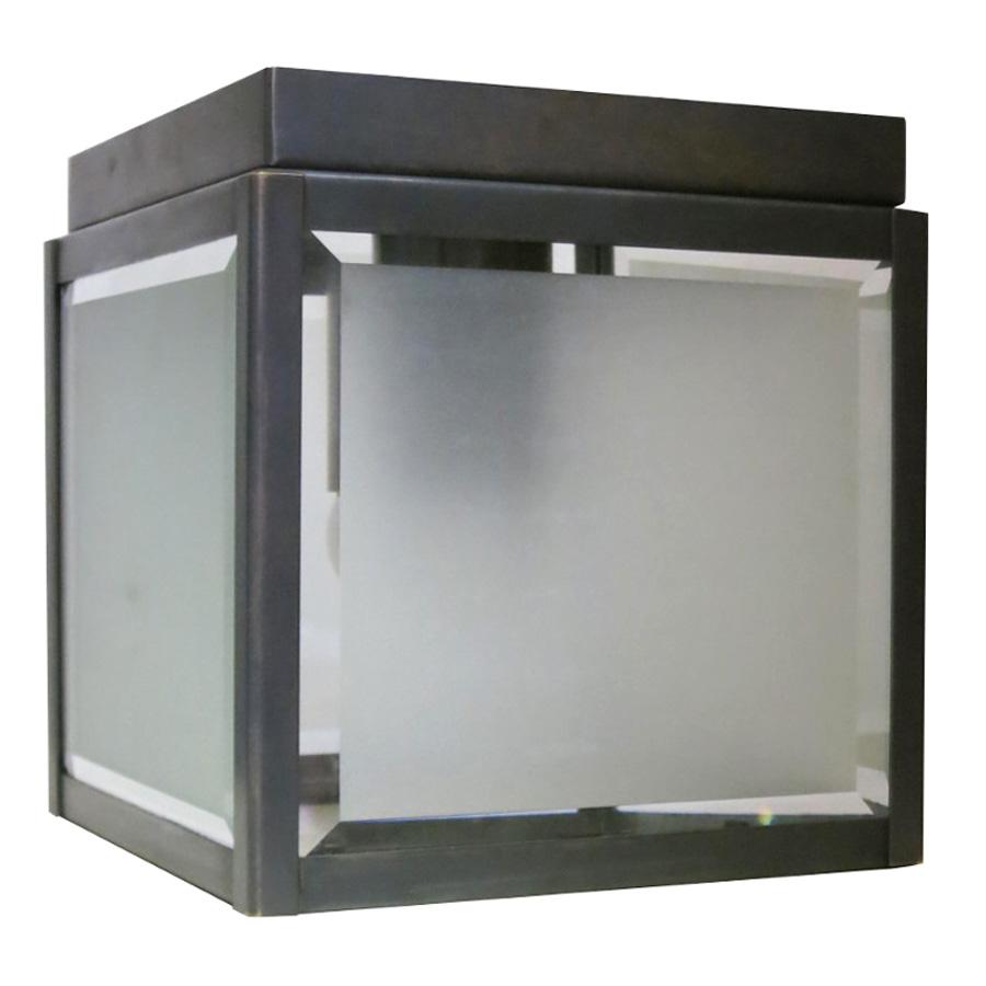 Quadratische deckenleuchte mit facettiertem glas 18 cm for Deckenleuchte glas
