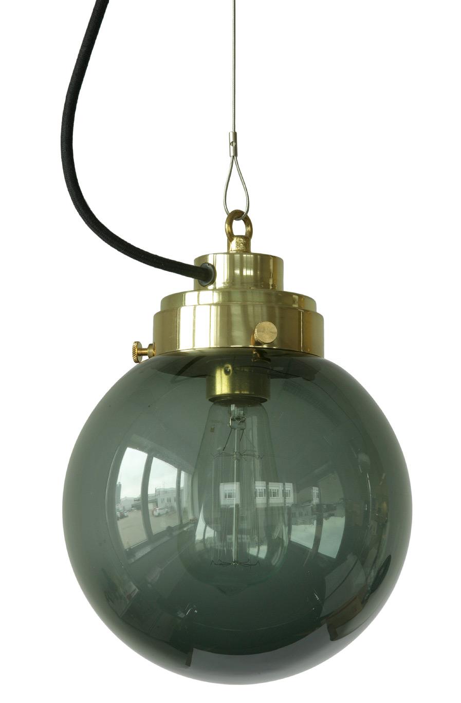 kugel h ngeleuchten mit rauchglas in drei gr en casa lumi. Black Bedroom Furniture Sets. Home Design Ideas