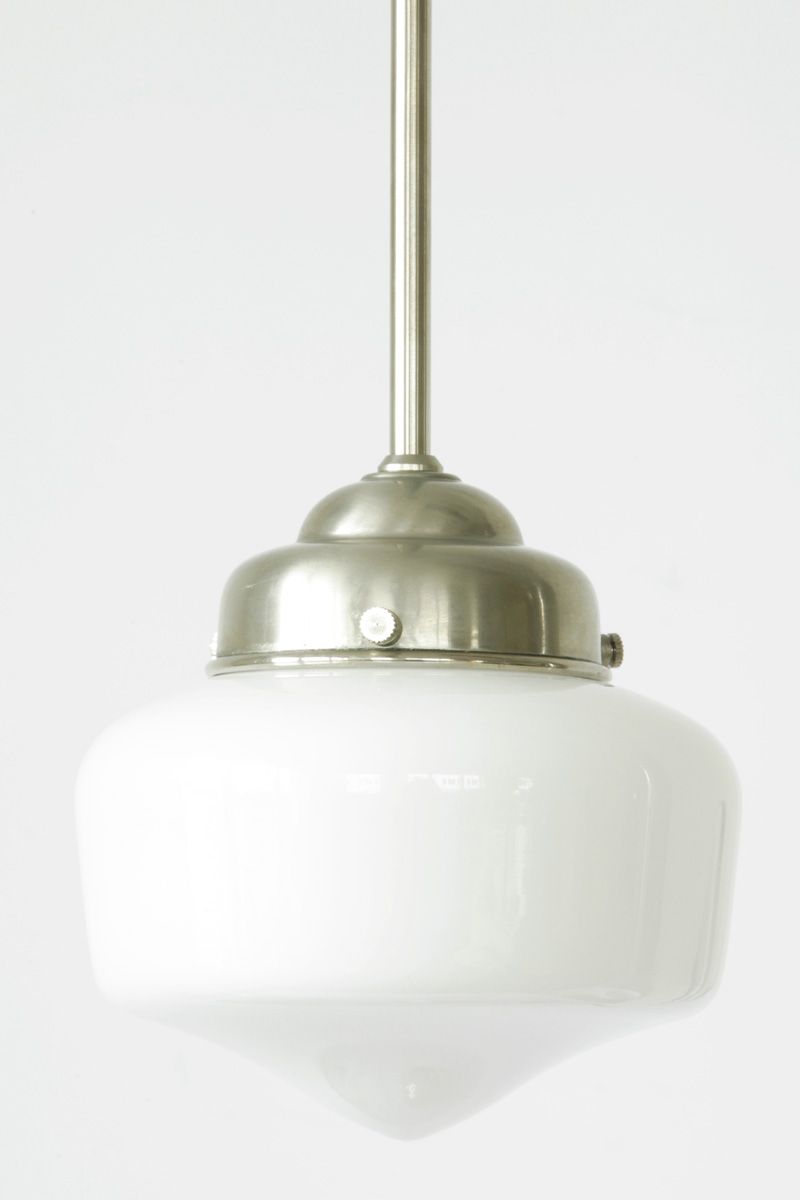 rod hanging lamp with art deco opal glass von collectie art dco image 3