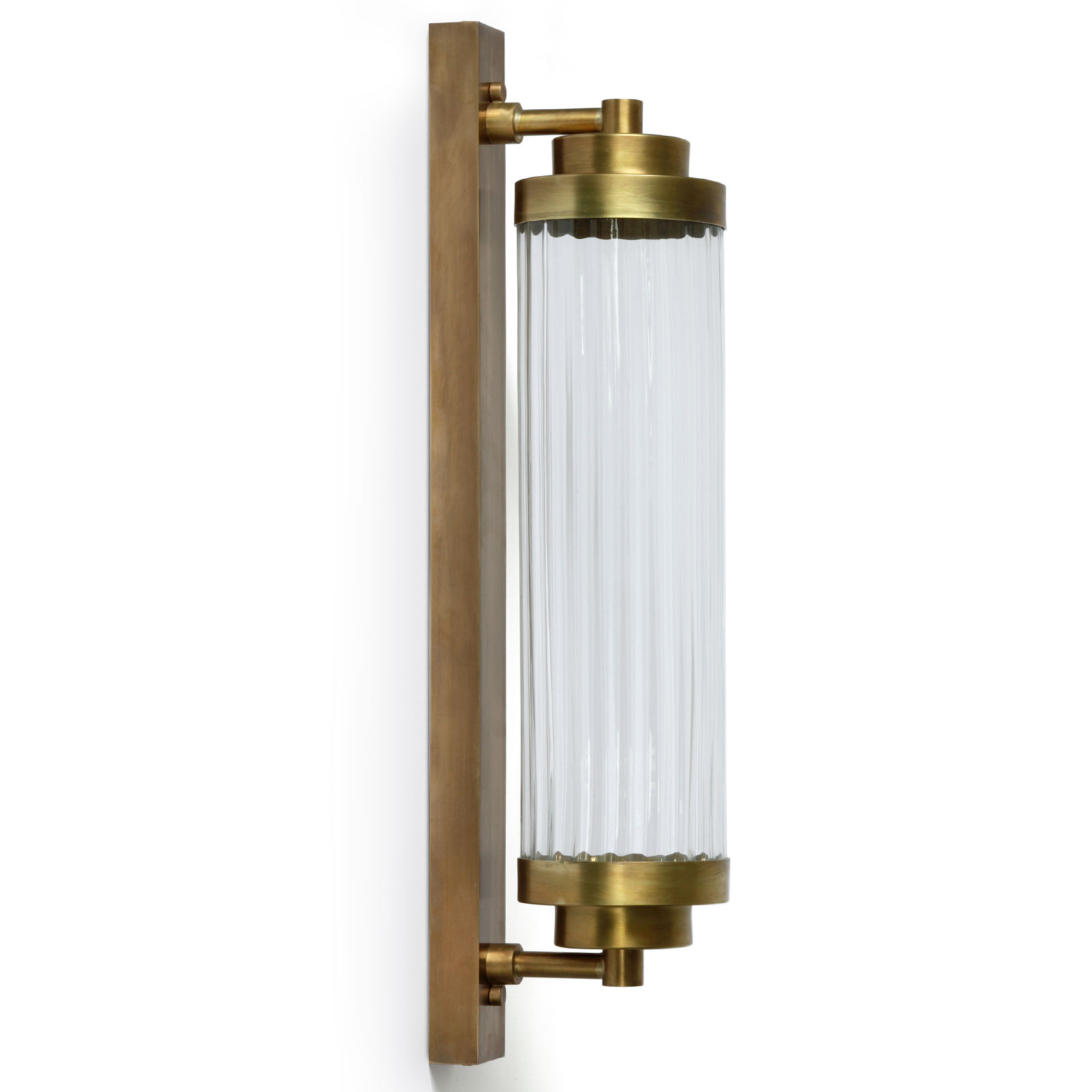 Art Deco Pillar Wall Light Brass Crafted With Led Source A202 Casa Lumi