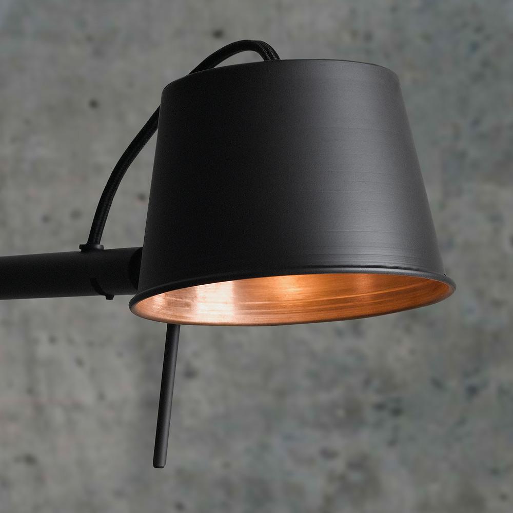Lese Stehlampe Matt Schwarz Und Kupfer Bliss Casa Lumi