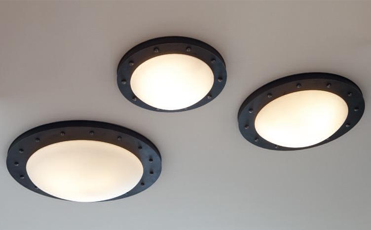 Moderne Lampen 73 : Industriestil de deckenleuchte aus schmiedeeisen Ø
