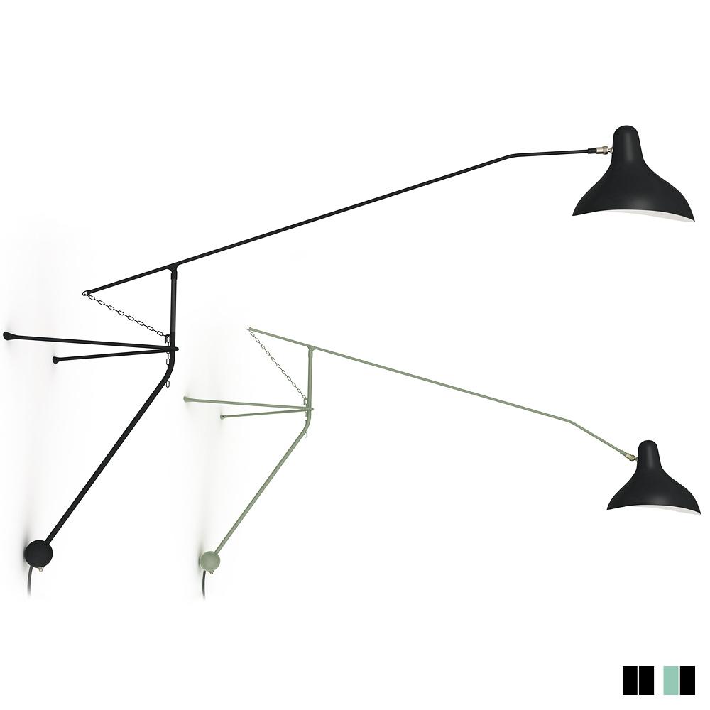 Mantis ausleger wandleuchte im design der 50er casa lumi for Stehlampe designklassiker