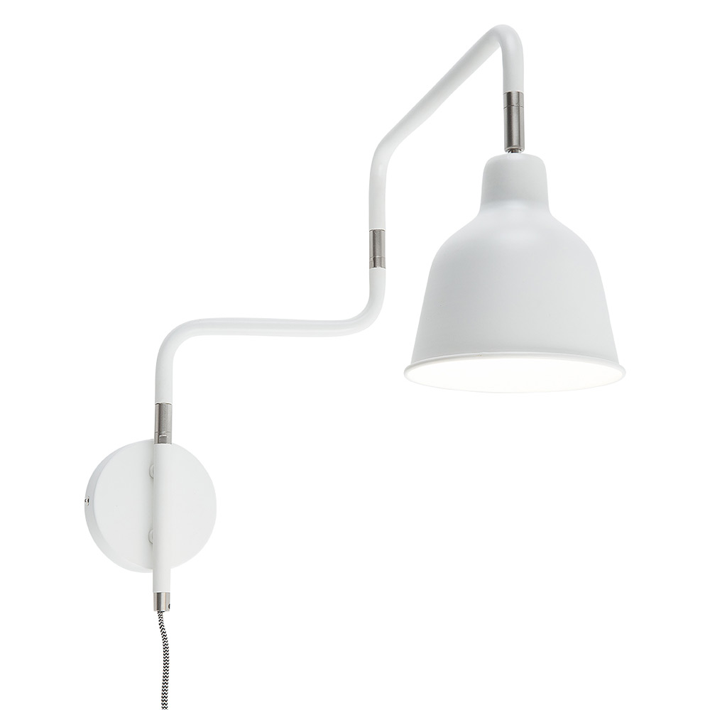 Robust swivel arm wall light, 63 cm radius - Casa Lumi