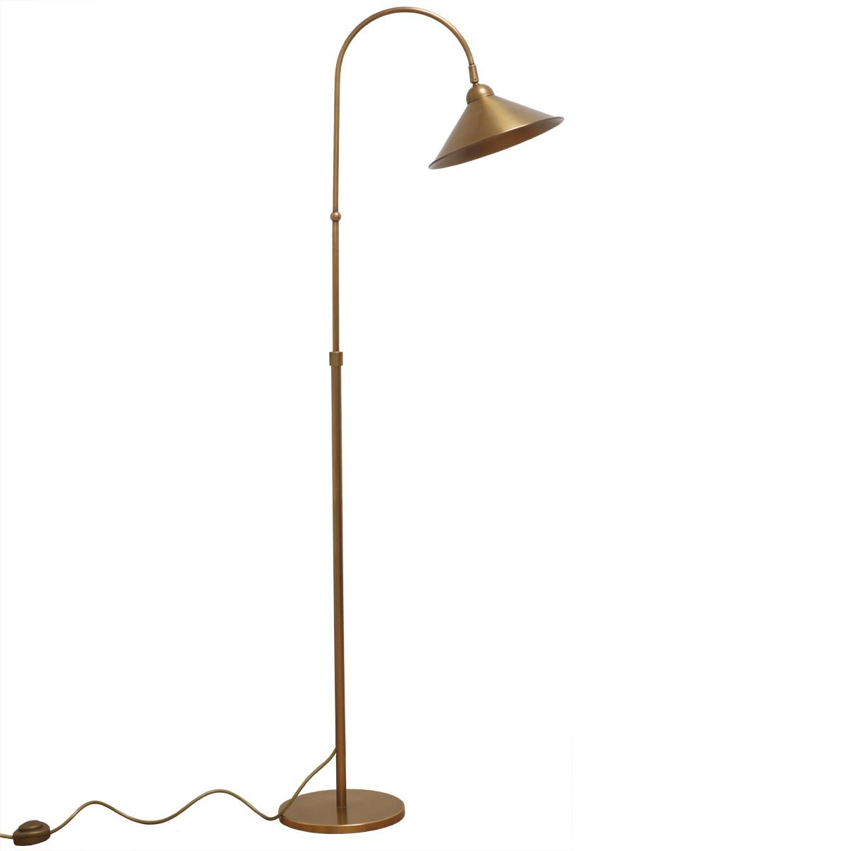 Bogen Stehlampe Messing