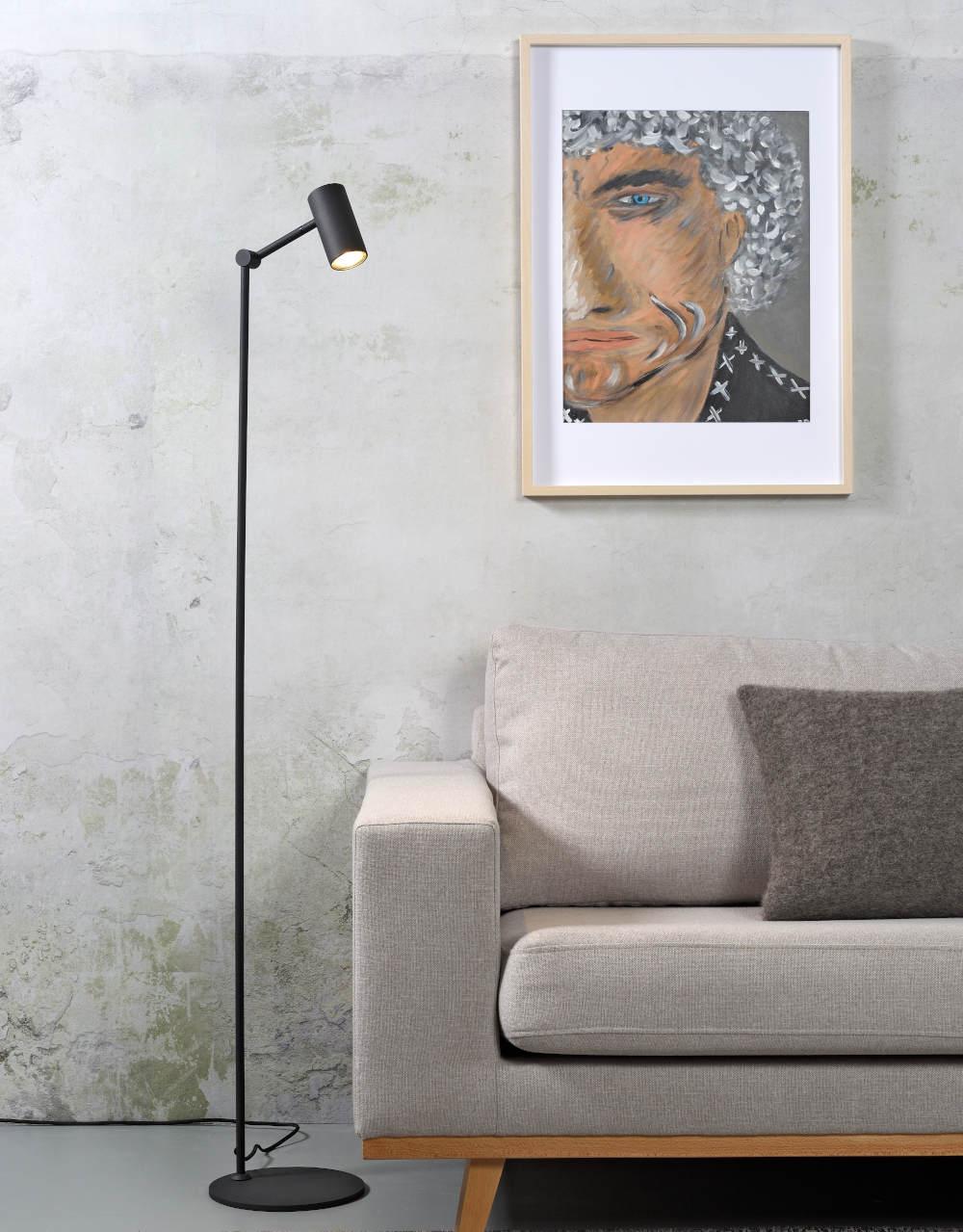 Modern Slim Floor Reading Spot Light Mon F Casa Lumi