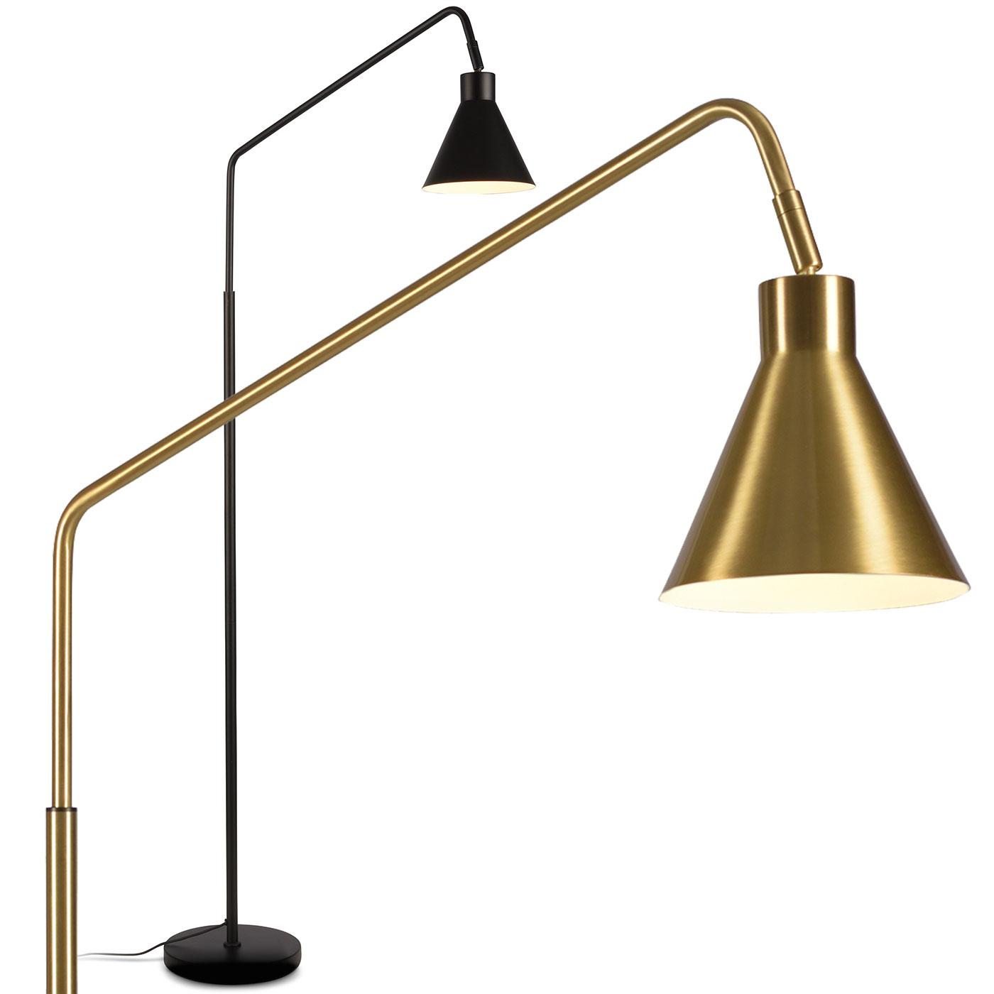 Lese Stehlampe Lyo Mit Langem Ausleger Schwarz Oder Gold Casa Lumi